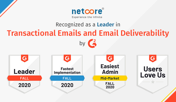 Netcore Recognized as a Leader in Transactional Emails and Email Deliverability by G2!